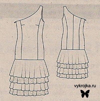 выкройка старинного платья - Схемы выкройки.