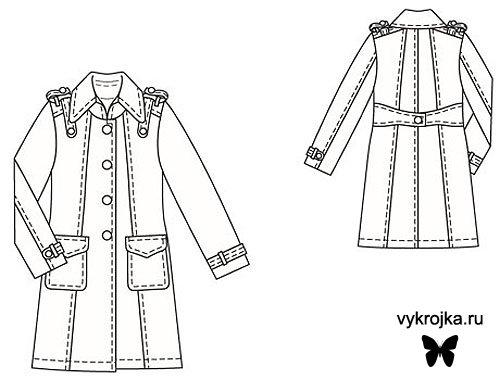 Выкройка пальто из сукна