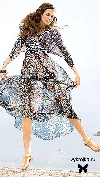Выкройка платья из креп-жоржета
