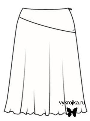 Выкройка юбки-колокол