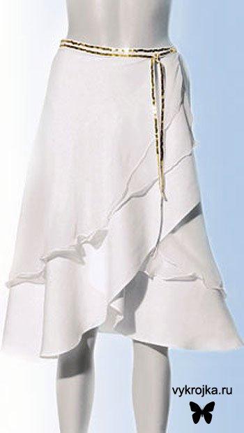 Выкройка юбки со «ступенями»