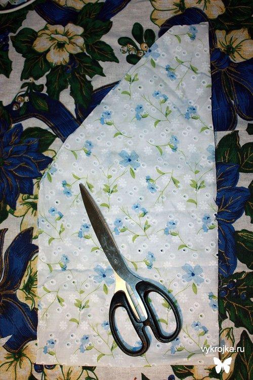 Выкройка платья в пол - это прямоугольник, линии котороно можно нанести...