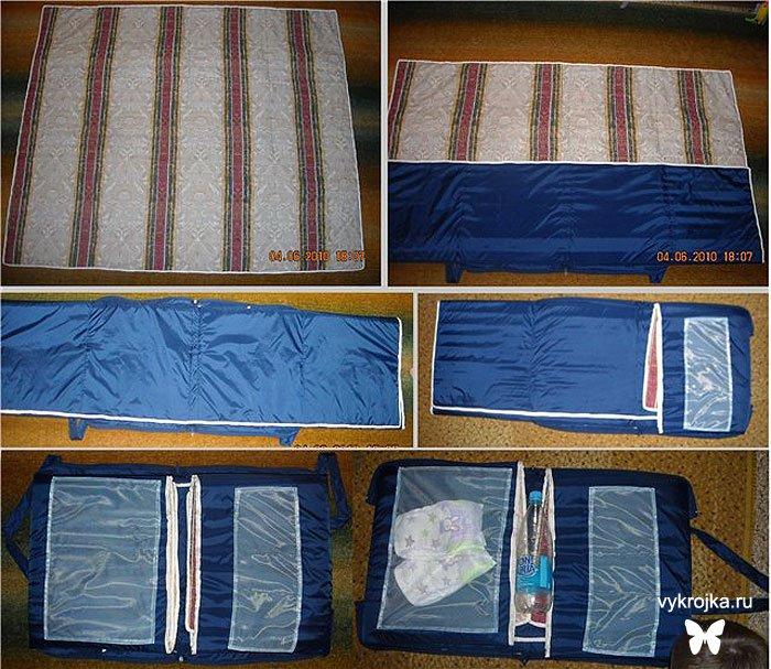 Варианты купальников-трансформеров и выкройка пляжной сумки-коврика.