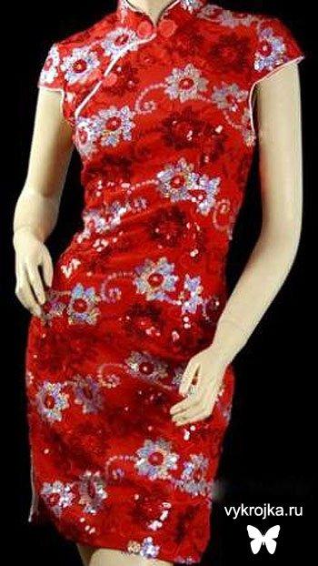 Выкройка китайского платья