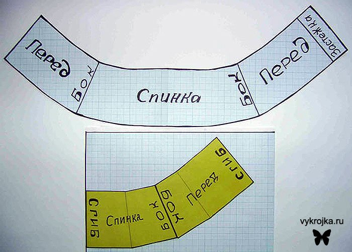 3) стачайте друг с другом, окантуйте бейкой.  4) пришейте застежку (крючки и петли) сбоку или сзади пояса.