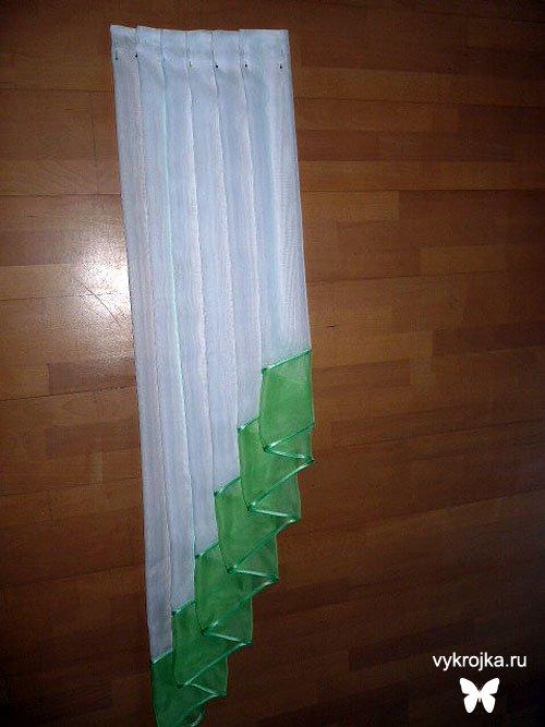 Выкройка «де жабо» или «галстука» для штор
