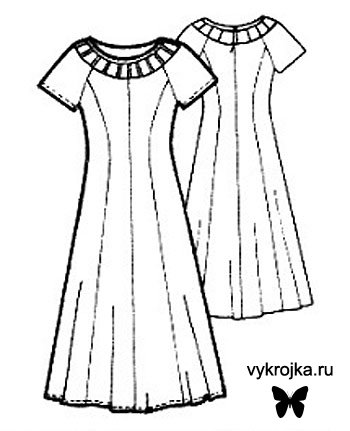 Выкройка Трикотажного пляжного платья с запахом.