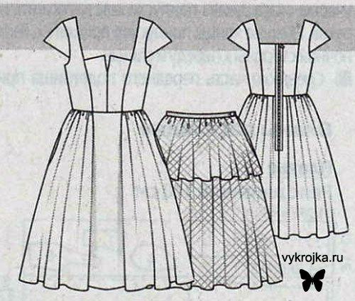 Выкройка платья в стиле ретро