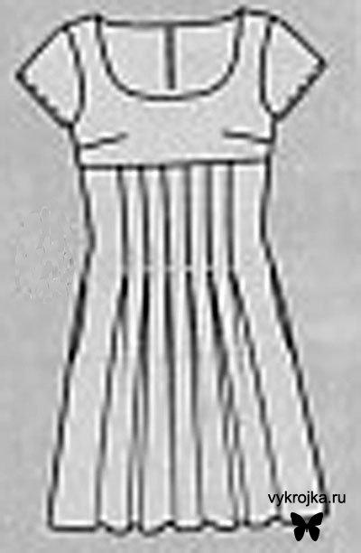 Описание: Выкройка платья в английском стиле.