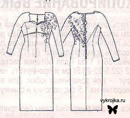 Выкройка свадебного платья для беременных.