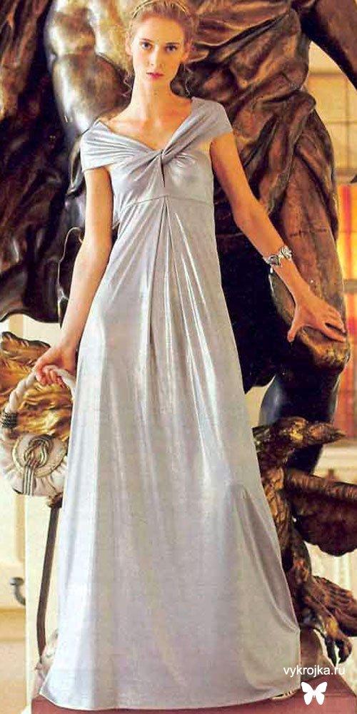 Выкройка вечернего платья в стиле ампир