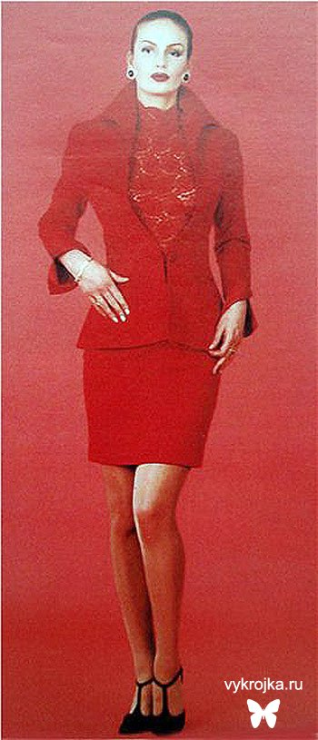 Выкройка красного костюма