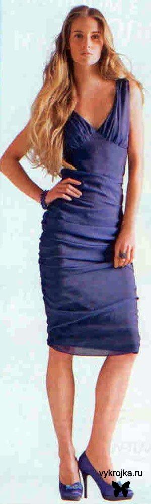 Выкройка платье-тюльпан из шифона