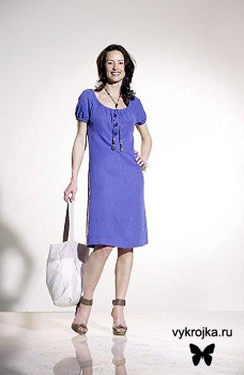 Выкройка платья для шоппинга и прогулок