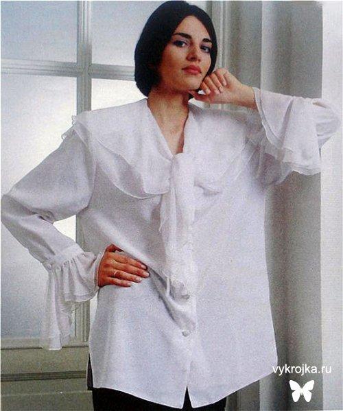 Выкройка белой блузки