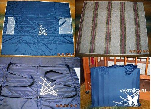 Выкройка сумки-коврика для пляжа