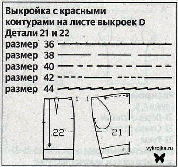 Схема выкройки юбки