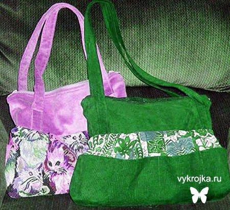 выкройки женских и детских сумок