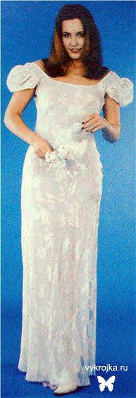 Выкройка платья летнего из струящейся ткани