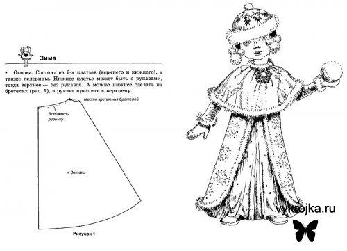 Выкройка карнавального костюма Зимушка