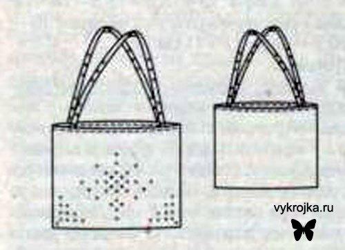 Выкройка сумки из искусственной кожи