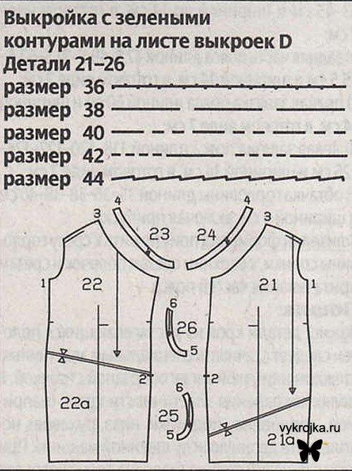 Выкройка короткое платье из тафты
