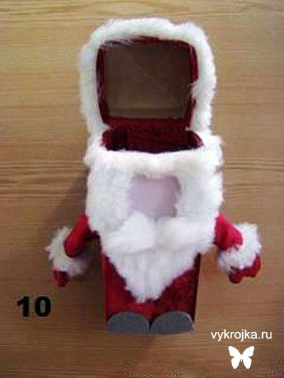 Подарочная новогодняя упаковка - Дед Мороз
