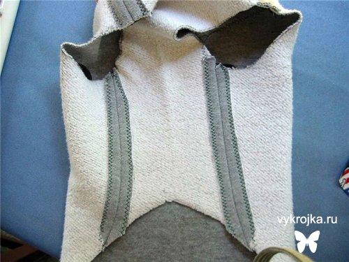 Выкройка жилетки с капюшоном для собаки