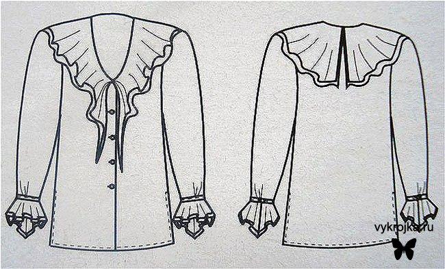 Блузка с рукавом из шифона своими руками